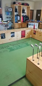 Putting Green in Golf Shop Rotated